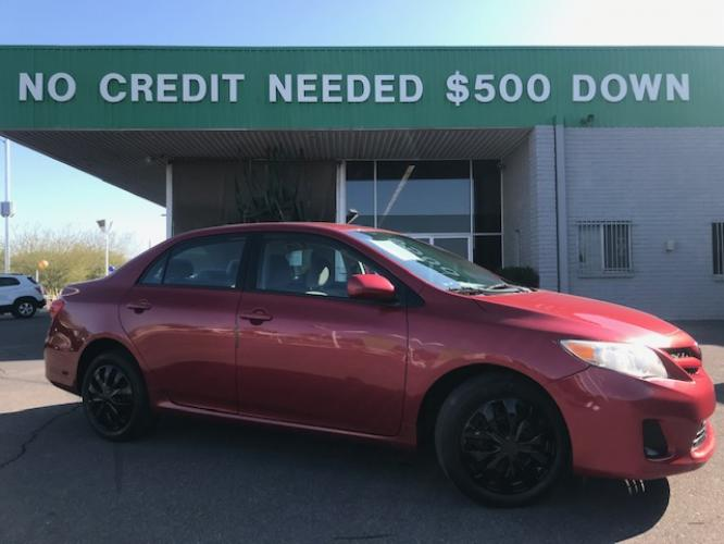 2012 Barcelona Red Metallic Toyota Corolla (2T1BU4EE7CC) with an 1.8L L4 DOHC 16V engine, 4-Speed Automatic transmission, located at 1701 W Broadway Rd, Mesa, AZ, 85202, (480) -844, 33.407108, -111.868874 - Photo #0