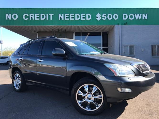 2008 Breakwater Blue Metallic Lexus RX 350 FWD (2T2GK31U28C) with an 3.5L V6 DOHC 24V engine, 5-Speed Automatic Overdrive transmission, located at 1701 W Broadway Rd, Mesa, AZ, 85202, (480) -844, 33.407108, -111.868874 - Photo #0