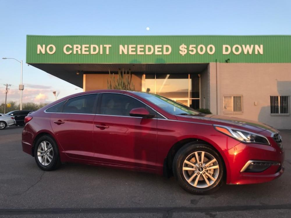 2015 Soothing Red Hyundai Sonata ECO (5NPE24AF8FH) with an 1.6L L4 DOHC 16V engine, 7-Speed Automatic transmission, located at 1701 W Broadway Rd, Mesa, AZ, 85202, (480) -844, 33.407108, -111.868874 - Photo #0