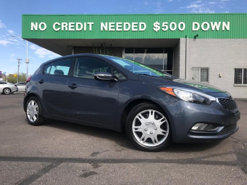 2016 Steel Blue Kia Forte 5-Door LX (KNAFK5A89G5) with an 2.0L L4 DOHC 16V engine, 6-Speed Automatic transmission, located at 1701 W Broadway Rd, Mesa, AZ, 85202, (480) -844, 33.407108, -111.868874 - Photo #0