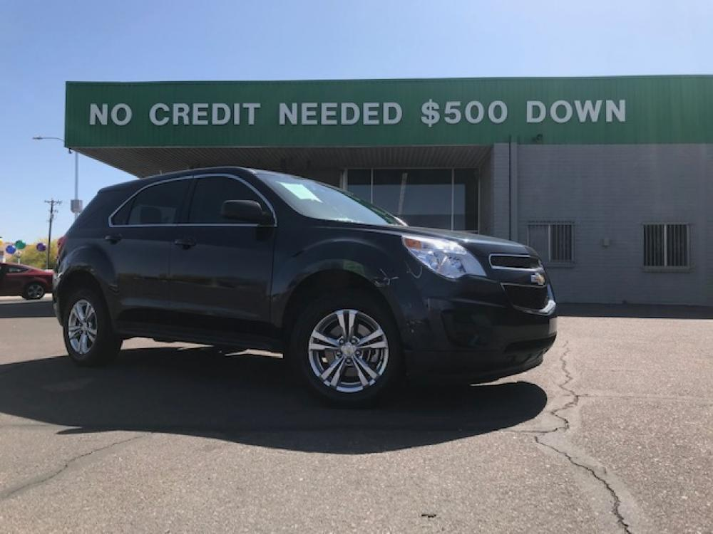2015 Velvet Blue Metallic Chevrolet Equinox LS 2WD (2GNALAEK4F6) with an 2.4L L4 DOHC 16V FFV engine, 6-Speed Automatic transmission, located at 1701 W Broadway Rd, Mesa, AZ, 85202, (480) -844, 33.407108, -111.868874 - Photo #0